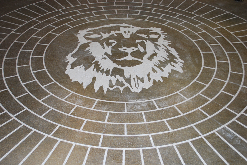 Circular Brick Engraving Esr Decorative Concrete Experts