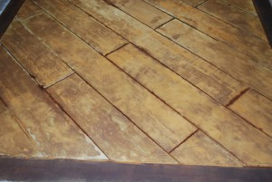Decorative Concrete Wood Floor Stained and Engraved