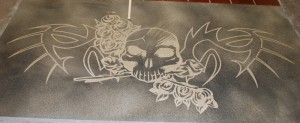 Decorative Concrete Logo Etching