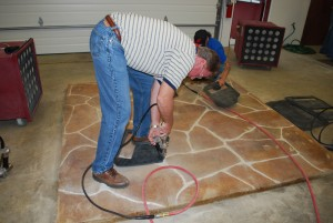 Engraved Flagstone Decorative Concrete