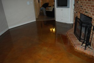 Interior Floor Stain With Epoxy Sealer