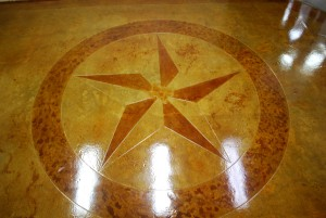 custom-logo-stained-concrete-engraved-floor