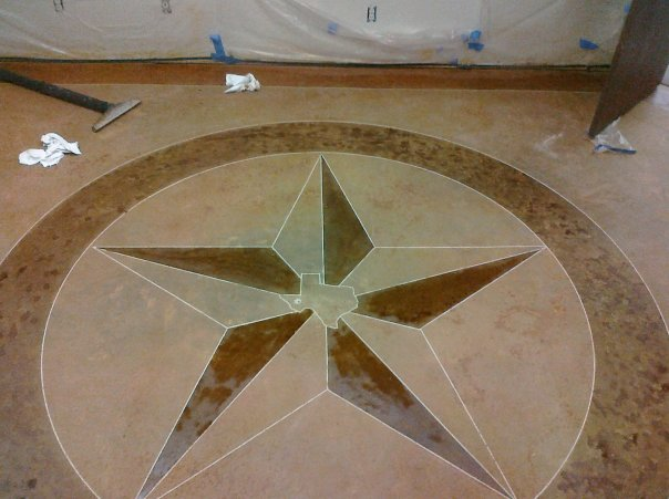 concrete stain. Concrete Staining with Star