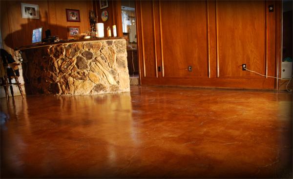 Esr Decorative Acid Stained Concrete Floor Esr