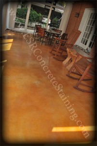 Acid Stained Patio