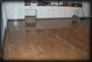 Micro finished stained floor