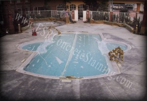 Decorative Concrete Pool Resurface