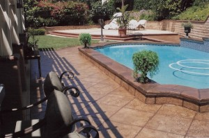 Stamped Overlay Pool Deck