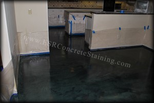 Forest Green Micro Finished Concrete Floor