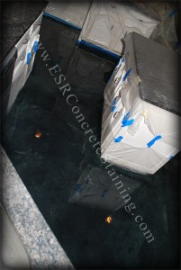 Forest Green Decortaive Concrete Floor
