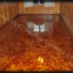 Antique Brown Acid Stain Floor