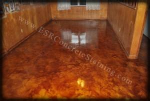 Antique Brown Acid Stain Floor