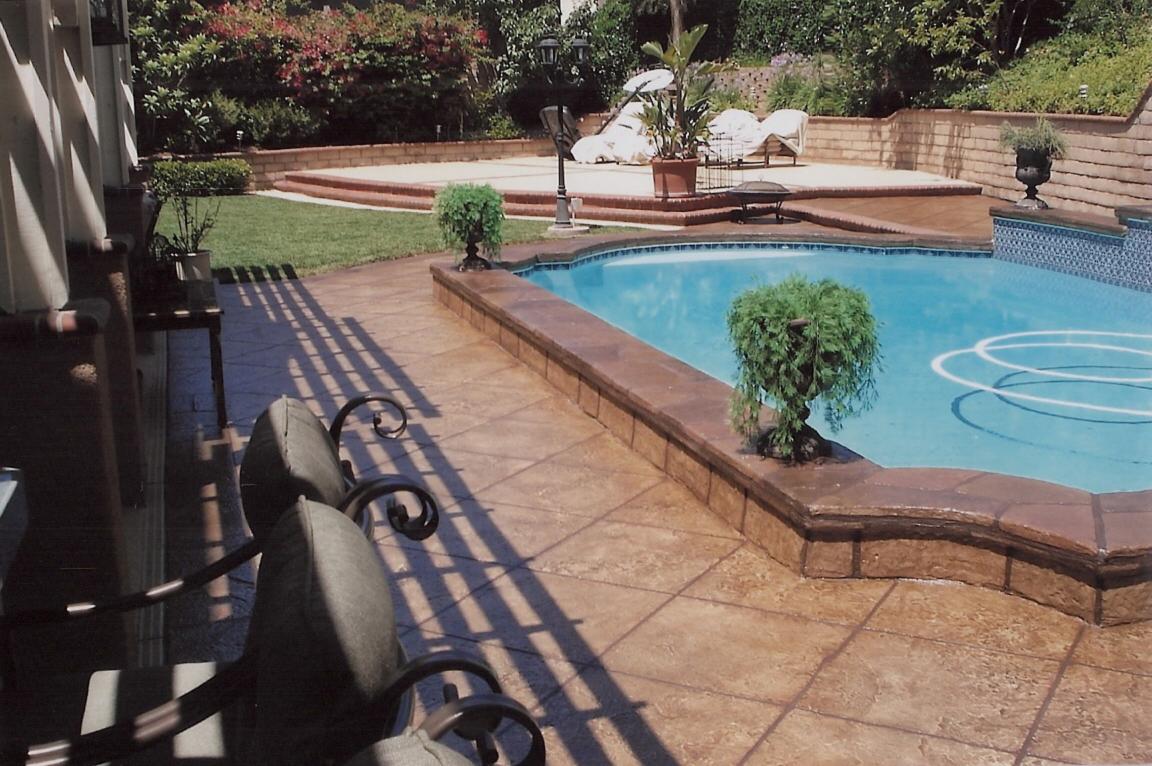 Patio Deck Concrete Staining Beauteous Stamped Concrete Dallas Tx  Esr Decorative Concrete Experts