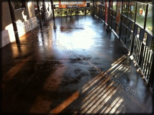Acid Stained Restaurant Floor
