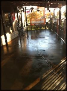 Restaurant Stained Floor