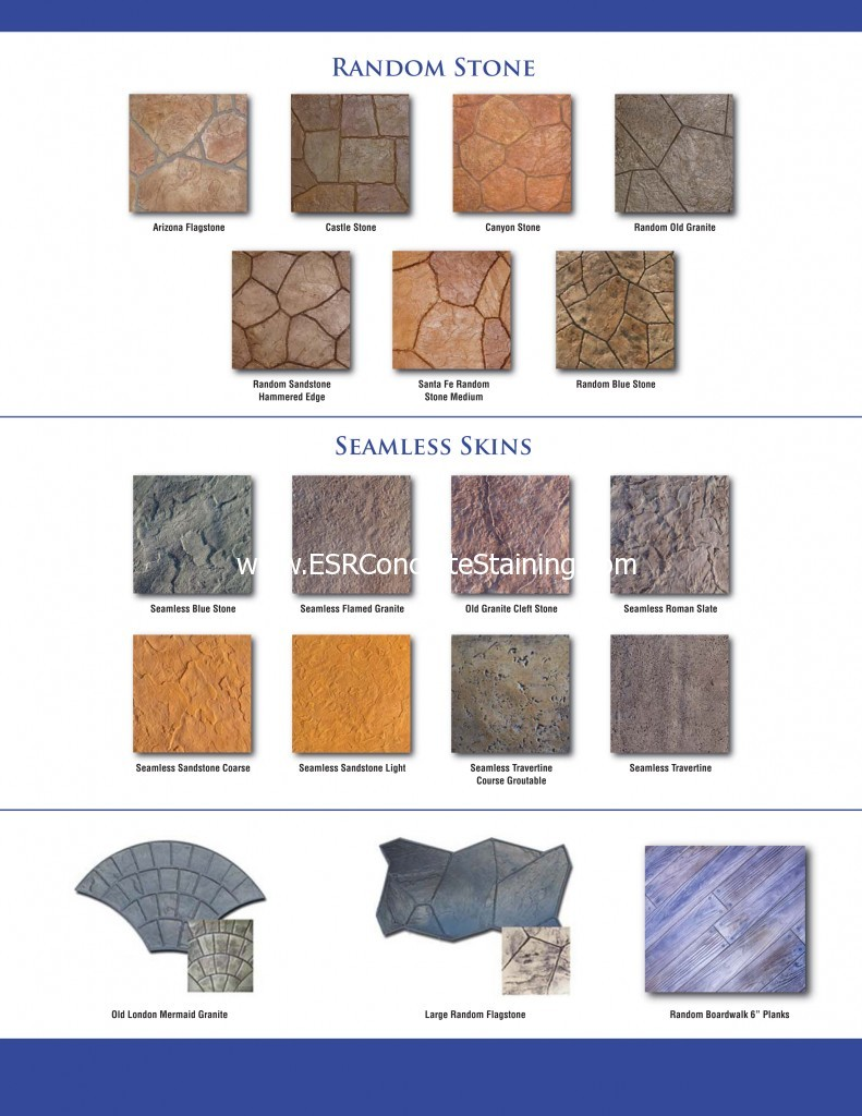 Decorative Concrete Stamp Texture Selection
