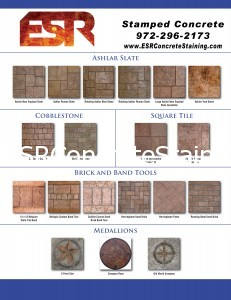 Decorative Concrete Stamps chart