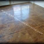 Acid Stained Decorative Concrete