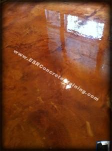 Acid Stained Decorative Concrete