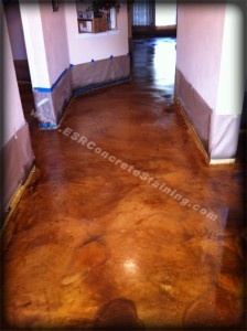 Acid Stained Concrete - Micro Finish Concrete Resurfacing