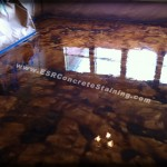 Decorative acid stained concrete floors dallas, tx