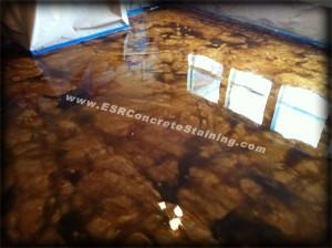 Concrete resurfacing acid staining