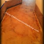 Decorative Concrete Before Sealing