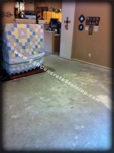 Existing concrete floor before prep