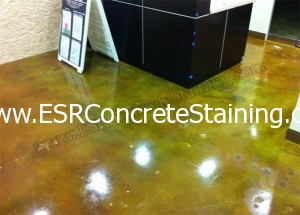 Acid Stained Patched Concrete