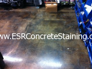 Acid Stained Concrete Tile Ghosting