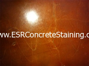 Acid Stained Decorative Concrete Glue Swirls