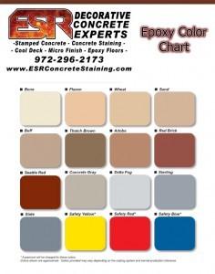 Epoxy Flooring Color Chart