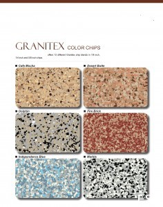 Epoxy Color Chip Flooring System