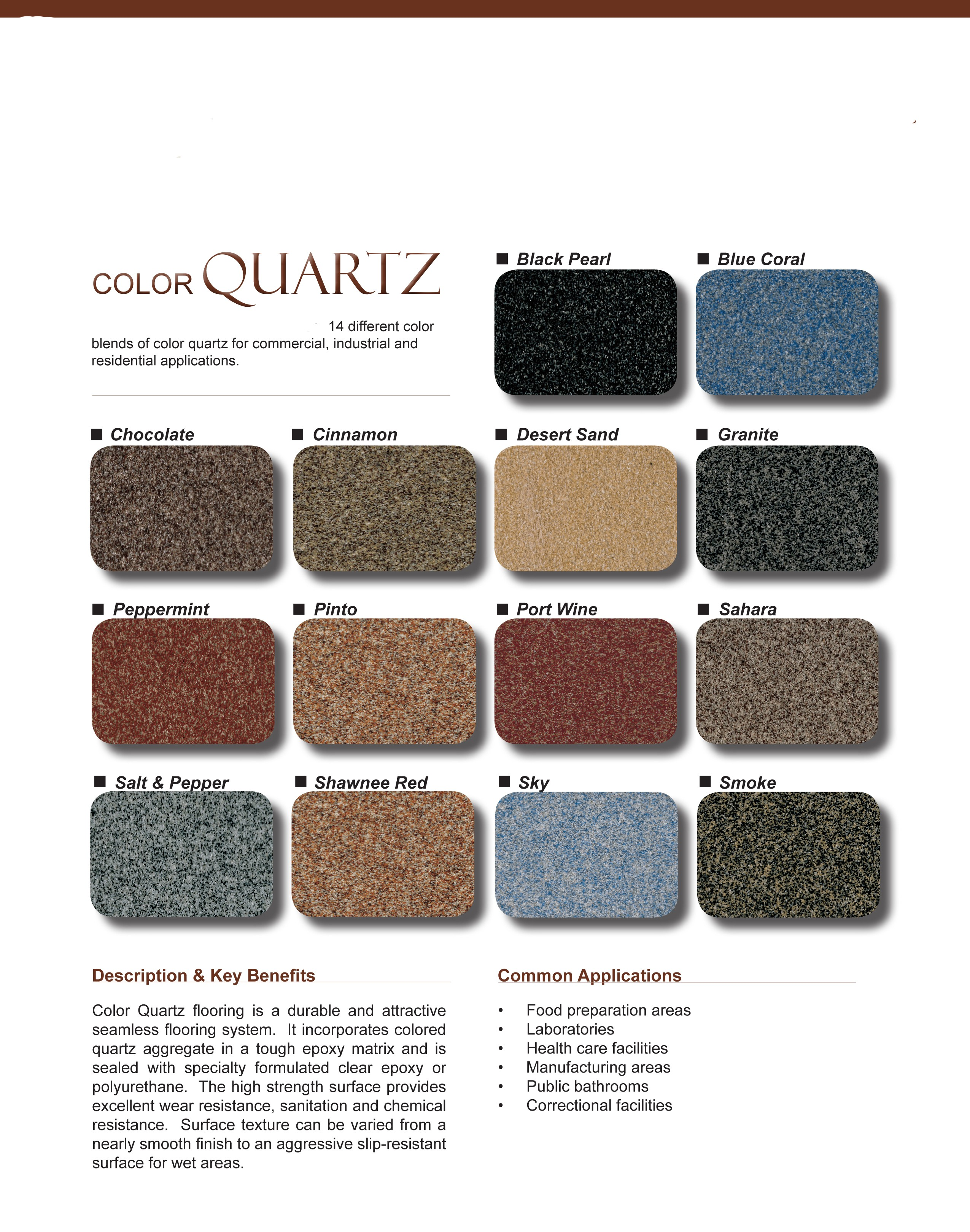 Esr decorative concrete experts epoxy floor coatings esr epoxy flooring system color quartz epoxy quartz color chart nvjuhfo Image collections