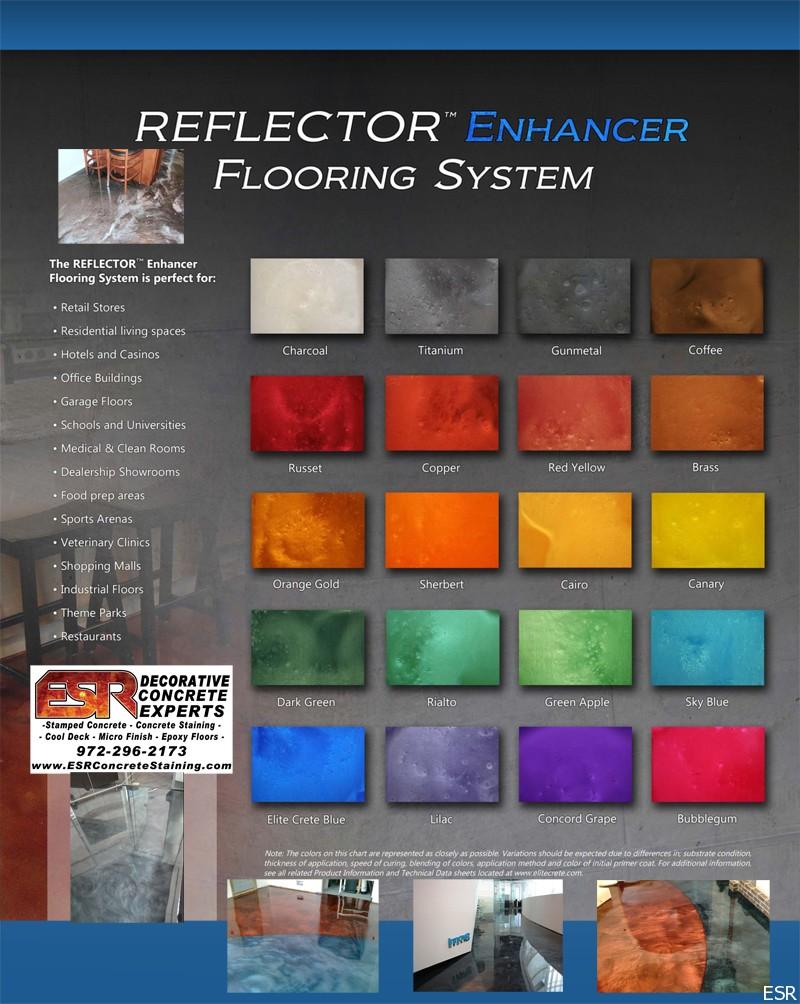 Esr decorative concrete experts epoxy floor coatings esr designer epoxy floor metallic reflector epoxy floor designer epoxy floor color chart nvjuhfo Image collections