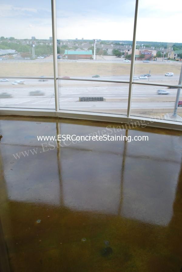 Acid Stained Concrete Office Building Dallas Tx Esr