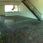 Acid Stained concrete floor restoration