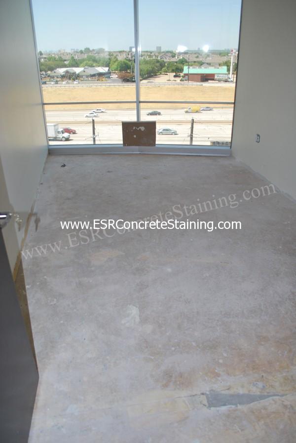 Office Floor Before Concrete Staining 3 Esr Decorative