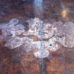 Stained Floor Decal Pull