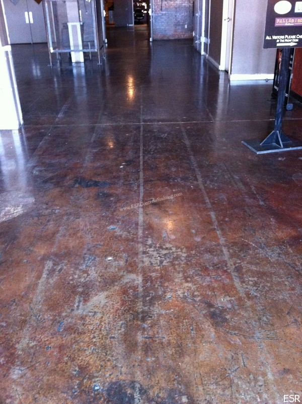 Stained Floor Tape Damage