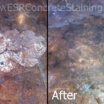 Acid Stain Repair Before and After