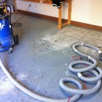 Disaster Epoxy Flooring Being Removed