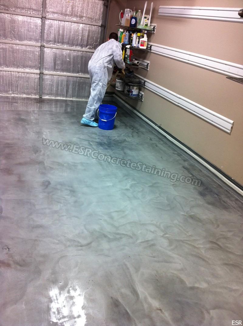 Metallic Epoxy Floor Dallas Tx5 Esr Decorative Concrete