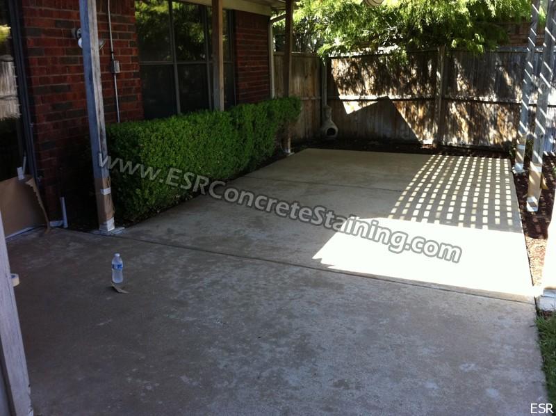 Concrete Patio Acid Staining