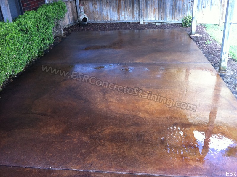 staining concrete patio to look like wood youtube acid stained designs