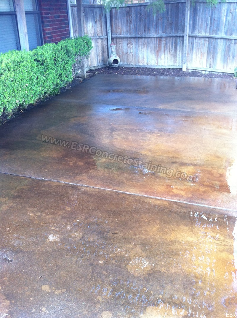 Patio Concrete Staining Coppell Tx 15 Esr Decorative