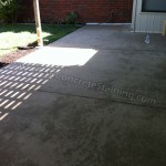 Stained patio befor