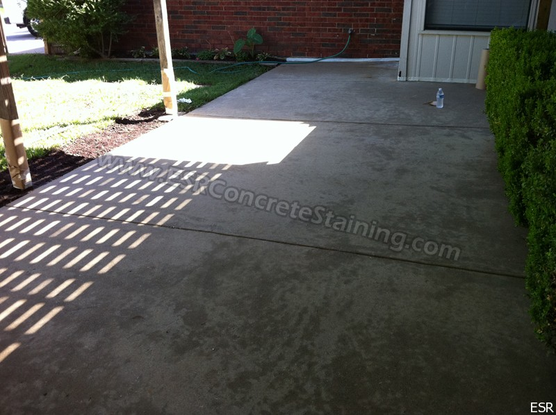 Amazing Stained Patio Befor. Acid Stained Concrete ...