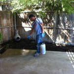 staining concrete patio