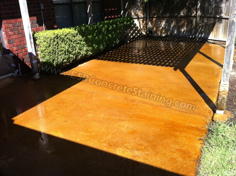 Patio Concrete Staining Coppell Tx 6 Esr Decorative